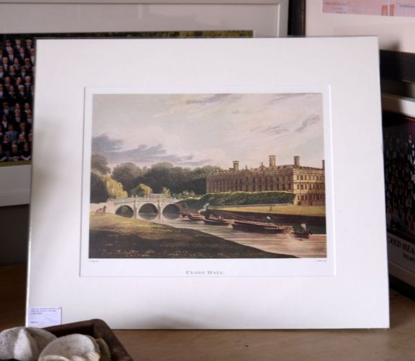 Clare College  - 19th C colour print - ClaCam1